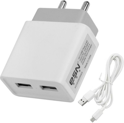 ESN 999 Fast 3.4 Amp Dual Port Fast Charger With Charge & Sync USB Cable Mobile Charger