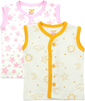 Born Babies Boys & Girls Printed Cotton T Shirt