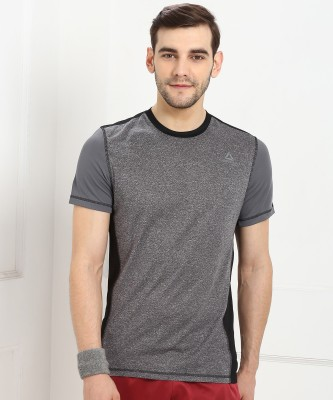 REEBOK Color Block Men Round Neck Multicolor T-Shirt