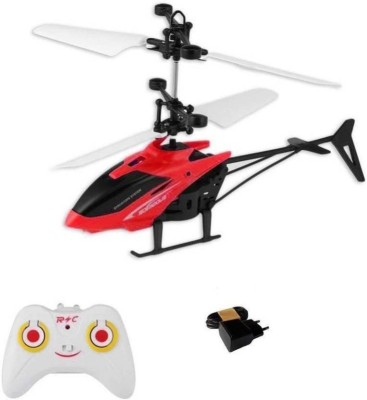 eEdgestore Exceed Induction Type 2-in-1 Flying Indoor Helicopter with Remote (Red)