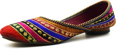ZIAULA Ethnic Multi Color Embrodered Bellies Bellies For Women