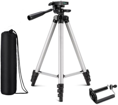 KBOOM Camera Tripod Stand With 3-Way Head Tripod for Digital Camera DV Camcorder, Tripod 3110 with mobile Phone holder mount for all Smartphone Tripod