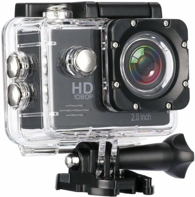 Buddymate Wide Angle 1080p Full HD 12 MP Waterproof Outdoor Camera with 2 Inch Camera Display for Viewing Recording Video Sports and Action Camera