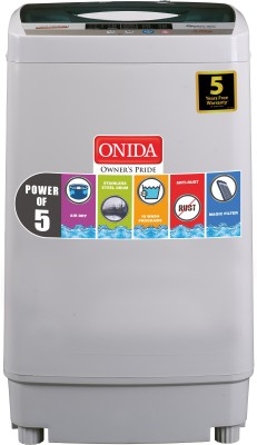 Onida 6.2 kg Fully Automatic Top Load Washing Machine Grey
