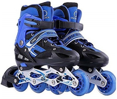 Assemble Inline Skates Size Adjustable All Pure PU Wheels it has Aluminum-Alloy which is Strong with LED Flash Light on Wheels In-line Skates - Size 38-42 UK