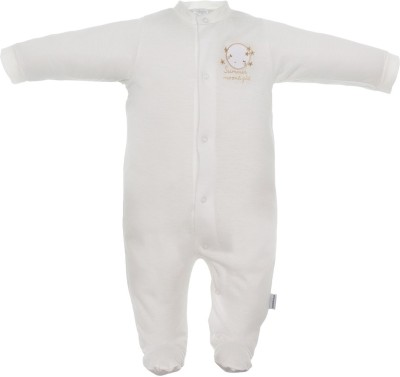 CAMBRASS Baby Boys & Baby Girls Beige Sleepsuit