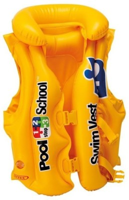 Intex DELUXE SWIM VEST POOL SCHOOL STEP-2(58660) Life AIR Jacket for Children (YELLOW) (3-6 Years) Inflatable Pool Accessory
