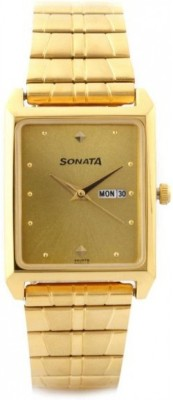 Sonata NF7007YM05 Analog Watch  - For Men
