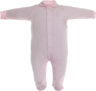 CAMBRASS Baby Boys & Baby Girls Pink Sleepsuit