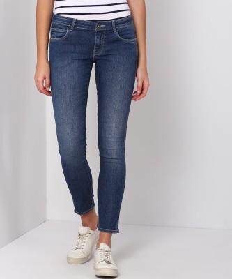 Wrangler Skinny Women Dark Blue Jeans