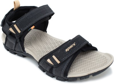 Sparx Sparx Men SS-481 Black Beige Floater Sandals Men Black Sports Sandals