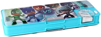 My Baby Excels Series PJ Mask Heroes VS Villains Print Art Plastic Pencil Box