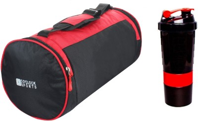 5 O'Clock Sports Combo Of Leatherite Red Gym Bag , and Too fit Red spider Gym & Fitness Kit Gym Gym & Fitness Kit