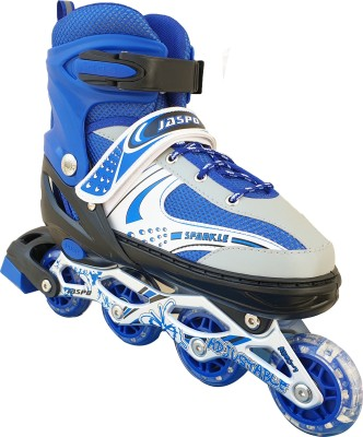 Jaspo Sparkle Adjustable Front Light In-line Skates - Size 4-7 UK