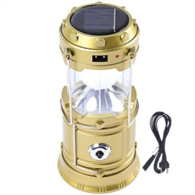 ROAR KRH_561K_Smart phone comaptiable Led Solar Emergency Light Lantern LED Torch Flashlight|| Dual Power Recharger Solar & AC Electricity||Portatable Hand Lamp with Hooks ||Charging Cable with Indicator|| 6 LED Lights||USB Mobile Charging||LED Lantern For Home or Travelling||So Best and Quality Compatible with all smart phones Emergency Light