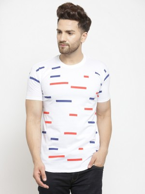 NB NICKY BOY Printed Men Round Neck Reversible White T-Shirt