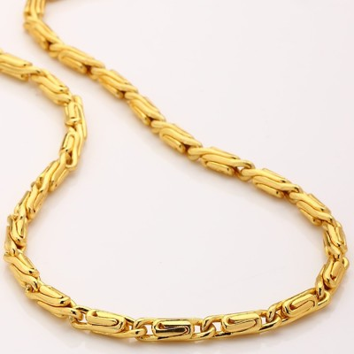 Fashion Frill Trendy & Fancy Men Gold-plated Plated Metal Chain