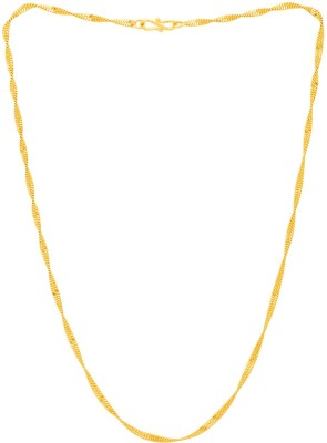 Fashion Frill Trendy & fabulous Exclusive Designer chain For Men And Boys Gold-plated Plated Metal Chain