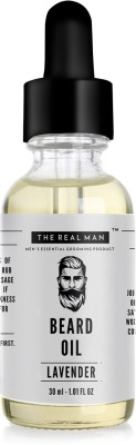 THE REALMAN Lavender Beard Growth Oil 30ml 100% Organic Men's Essential Grooming Product | Health and personal care product for Men Hair Oil