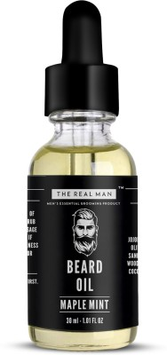 THE REALMAN Maple Mint Beard Growth Oil 30ml 100% Organic Men's Essential Grooming Product | Health and personal care product for Men Hair Oil