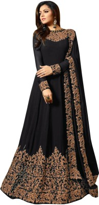 Fashionuma Poly Georgette Embroidered Salwar Suit Material