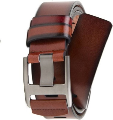 Variety & Capture Men Casual Brown Artificial Leather Belt