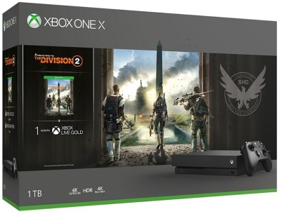 Microsoft Xbox One X 1 TB with Tom Clancy's The Division 2