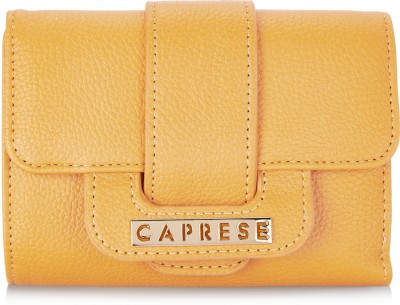Caprese Women Yellow Artificial Leather Wallet