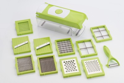 DAIVE Platinum 12 in 1 Vegetable And Fruit Slicer Dicer Chipser Grater Cutter Chopper Multiple Blade Veg Cutter And With Poly Carbonate body And Heavy Stainless Steel Blades Vegetable & Fruit Chopper Vegetable & Fruit Chopper