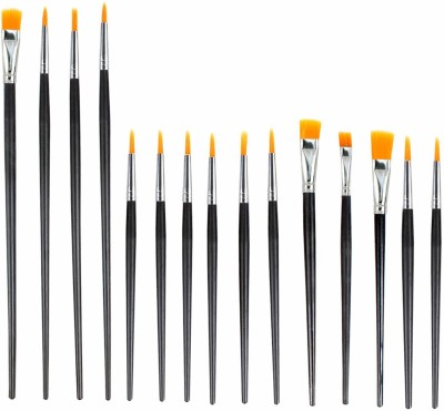 Treely Professional Artist Paint Brush Set, 15 Different Shapes and Size