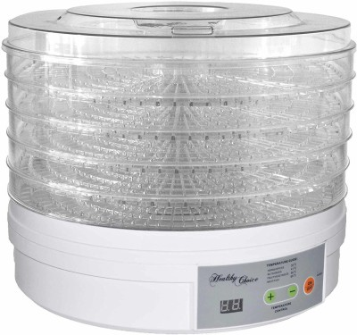 Mantavya Electric Food Fruit Dehydrator Machine with Adjustable Thermostat (5 try) 250 W Food Processor