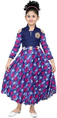 stylokids Girls Maxi/Full Length Party Dress