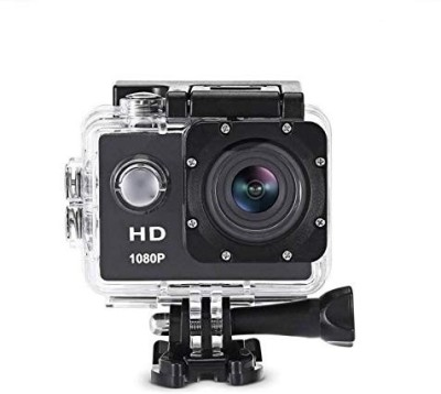 Rewy Portable Wireless Battery Operated 1080p Full HD 12MP Wide Angle Waterproof Action Camera with 64 GB Micro SD Card Support Sports and Action Camera