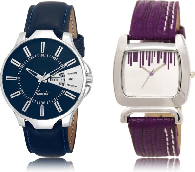 FASHION POOL NEW ARRIVAL FAST SELLING ROUND ANALOG DIAL METAL & LEATHER BELT NEW ARRIVAL FAST SELLING TRACK DESIGNER WATCH FOR FESTIVAL_PARTY_PROFESSIONAL_VALENTINE_BIRTHDAY GIFT SPECIAL COMBO WATCH FOR MEN_WOMEN Analog Watch  - For Couple