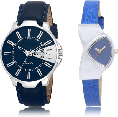 FASHION POOL NEW ULTIMATE FATS SELLING DAY & DATE SPECIAL DESIGNER TRACK METAL & LEATHER BELT NEW ARRIVAL FAST SELLING TRACK DESIGNER WATCH FOR FESTIVAL_PARTY_PROFESSIONAL_VALENTINE_BIRTHDAY GIFT SPECIAL COMBO WATCH FOR MEN_WOMEN Analog Watch  - For Couple