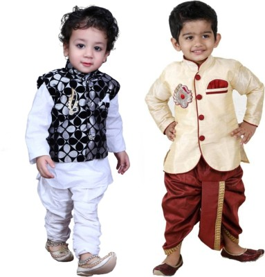 KL Collection Boys Festive & Party Kurta, Waistcoat and Pyjama Set