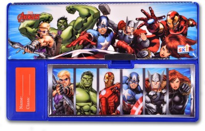 SKI Marvel Avengers Cartoon Art Plastic Pencil Box