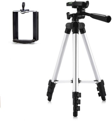 casadomani Tripod-3110 | New Arrival Adjustable Portable Aluminium Lightweight Camera Stand Tripod-3110 With Three-Dimensional Head & Quick Release Plate For Video Cameras and mobile clip holder for All Mobiles & Smartphones Tripod | Best Aluminum Alloy Good Quality | Portable & Foldable | Extendable | Lightweight Camera Stand | Three-Dimensional Head & Quick Release Plate | For Digital Video Cameras, DSLR Tripod | With Mobile Clip Holder | Projector | Camcorders | Monopod | Mobile Holder For All Smartphone | Carrying Bag Tripod Kit