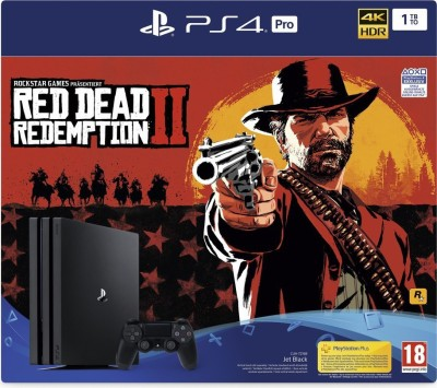Sony PlayStation 4 Pro 1TB Console - Red Dead Redemption 2 Bundle 1000 GB with Red Dead Redemption