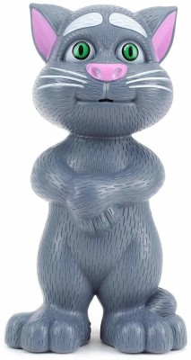 TEMSON Talking Tom Cat with Recording, Music, Story and Touch Functionality,