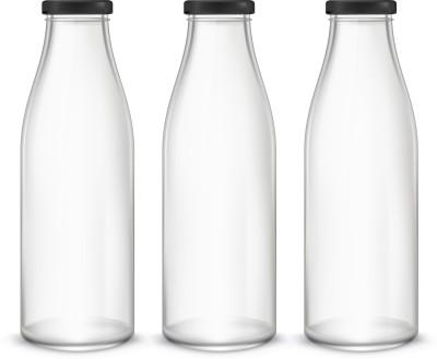 Artista Glass Bottle (1000x3) for Water / Milk 1000 ml Bottle