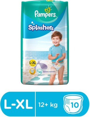 Pampers Splashers Disposable Swim Pants Diapers Extra Large Size 10 Pc (XL-10) - XL