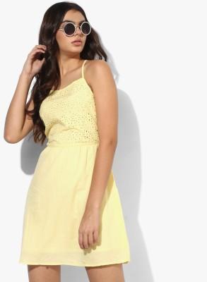 People Women A-line Yellow Dress