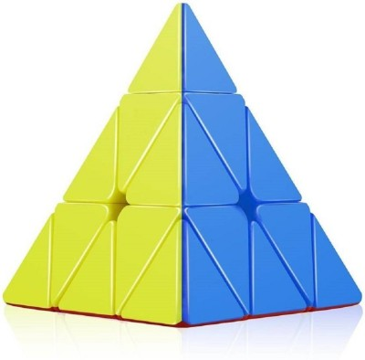 AR Enterprises Super Smooth Sticker less Pyramid Speed Triangle Cube Magic Rubik Cube