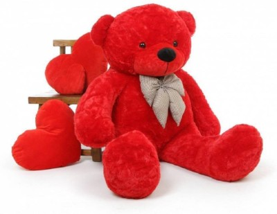 Tedstree 3 feet red teddy bear / Big very soft Red teddy bear for pleasant Gift / with two heart soft toys anniversary gift teddy  - 90.02 cm