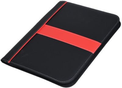 SUKHAD Leather Interview Document Organizer & Business Card Holder - with 4 Ring Leaf Holder and Calculator