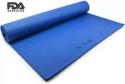 Dr. Trust (USA) EcoFriendly Exercise Gym mats For Men & Women With Carrying Cover Bag Strap Blue 6 mm Yoga Mat