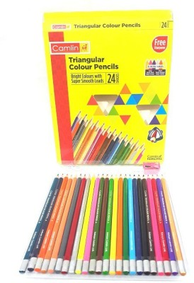 Camlin TRIANGULAR COLOR PENCIL PACK OF 24 (MULTICOLOR) TRIANGULAR Shaped Color Pencils