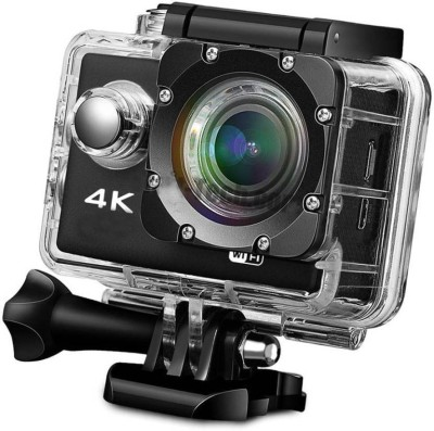 Aerizo 4k Ultra HD Wide Angle 16 MP Waterproof Sports Wifi Supported Action Camera with 128 GB SD Card Support Sports and Action Camera