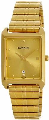 Sonata NF7007YM02A Analog Watch  - For Men
